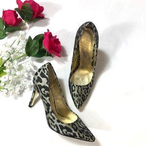 Adrianna Papell Metallic Animal Print Pump Heels
